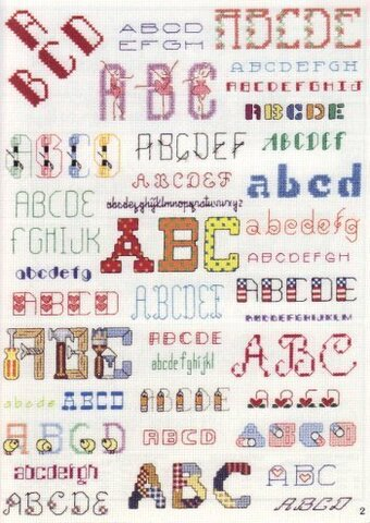 Alphabets Galore - Cross Stitch Pattern