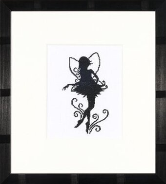 Cute Little Fairy Silhouette - Cross Stitch Kit