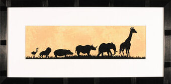 Parade of Wild Animals - Cross Stitch Kit
