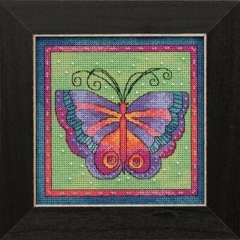 Butterfly Lime - Laurel Burch - Cross Stitch Kit