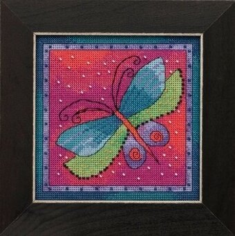 Dragonfly Fuschia - Laurel Burch - Cross Stitch Kit