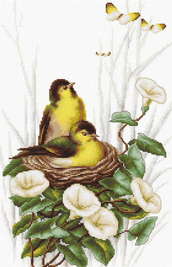 Birds in the Nest - Cross Stitch Kit