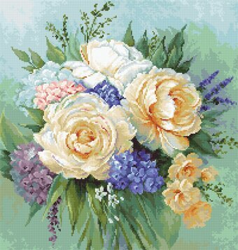 Floral Bouquet - Cross Stitch Kit