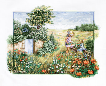 Landscape with Poppies - Cross Stitch Kit