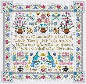 Wisdom - Cross Stitch Pattern