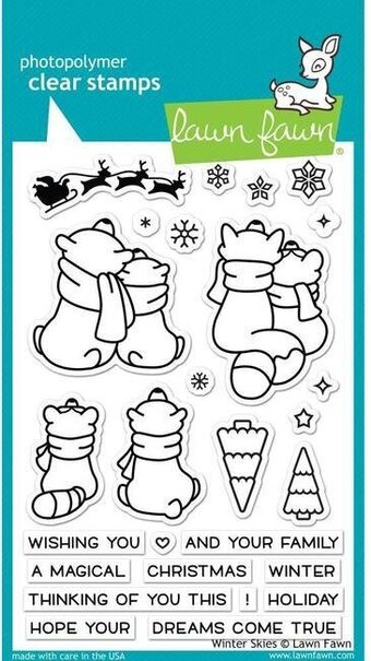 Winter Skies - Christmas Clear Stamp