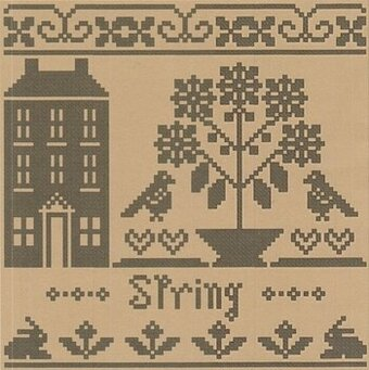 Spring - Monochromatic Series - Cross Stitch Pattern