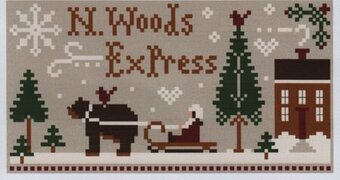 North Woods Express - Cross Stitch Pattern
