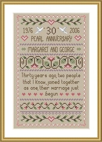 Pearl Wedding - Cross Stitch Pattern