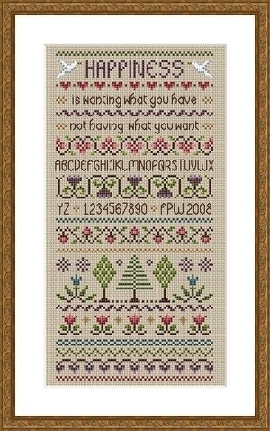 Happiness - Cross Stitch Pattern