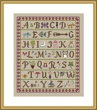 A is for Apple - Cross Stitch Pattern