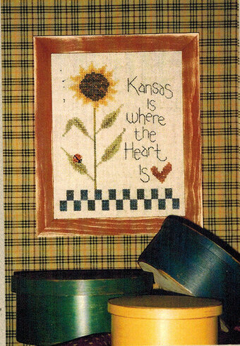Kansas is Where the Heart Is - Cross Stitch Pattern