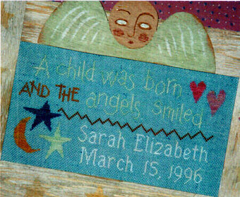 A Child Was Born - Cross Stitch Pattern