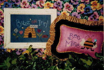 Buzz on Inn (with 4 buttons) - Cross Stitch Pattern
