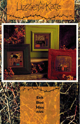Eek Boo Hiss (with buttons) - Cross Stitch Pattern