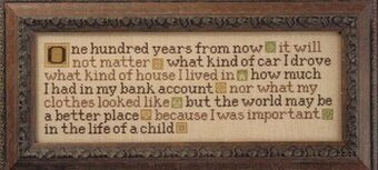 One Hundred Years From Now - Cross Stitch Pattern