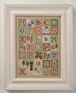 Winter Alphabet w/embellishments - Cross Stitch Pattern