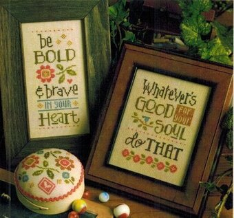 Be Bold & Brave - Cross Stitch Pattern