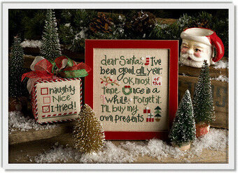 Dear Santa, I've Been Good - Cross Stitch Pattern