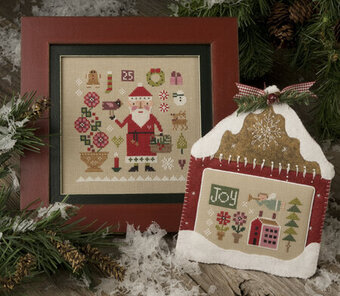 Sampler Claus - Lizzie Kate Christmas Cross Stitch Pattern