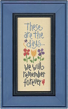 These Are The Days Boxer - Cross Stitch Kit