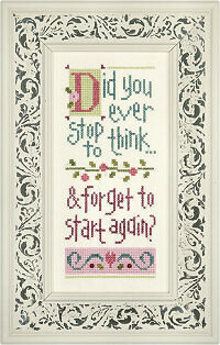 Did you Ever Stop to Think Giggle Boxer - Cross Stitch Kit