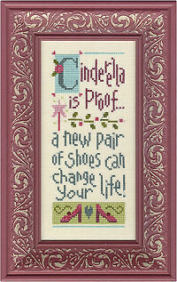 Cinderella is Proof Giggle Boxer - Cross Stitch Kit