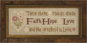 Faith, Hope, Love Inspiration Boxer - Cross Stitch Kit