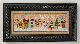 6 Fat Men Series - Snowy Day -  Cross Stitch Pattern