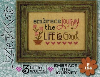3 Little Words- Embrace the Journey - Cross Stitch Pattern