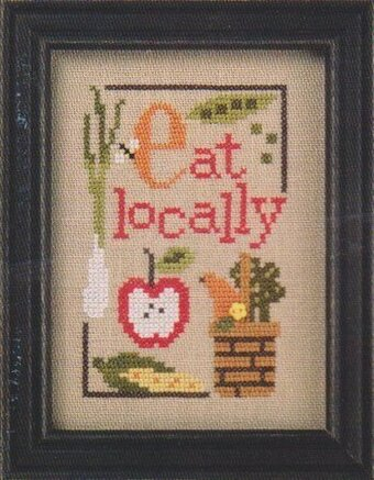 Green Flip-It - Eat Locally - Cross Stitch Pattern
