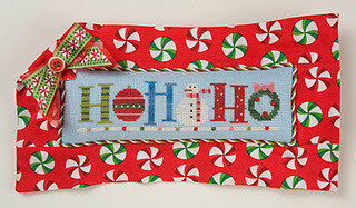 Quick-It Ho Ho Ho in a Row  - Cross Stitch Pattern
