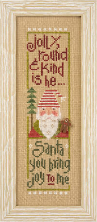 Jolly Round & Kind - Santa 2014 - Cross Stitch Pattern