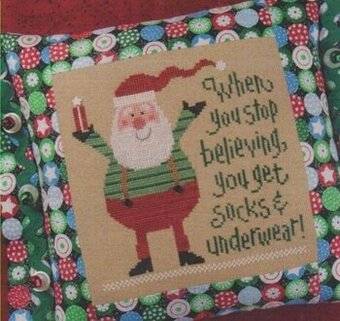 Socks and Underwear (Santa 2010) - Cross Stitch Pattern