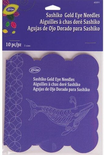LoRan Sashiko Gold Eye Needles