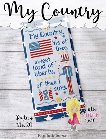 My Country - Patriotic Cross Stitch Pattern