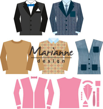 Marianne Design Collectables Die - Men's Wardrobe