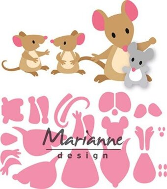 Eline's Mice Family - Marianne Design Collectables Dies