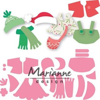 Eline' Outfits - Marianne Design Collectables Christmas Dies