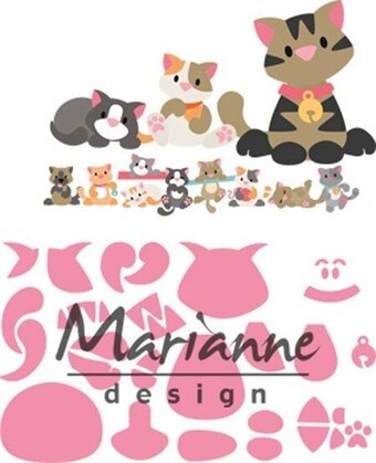 Eline's Kitten - Marianne Designs Craft Die