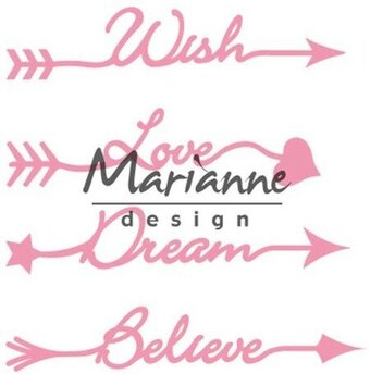 Marianne Design Dies - Arrow Sentiments