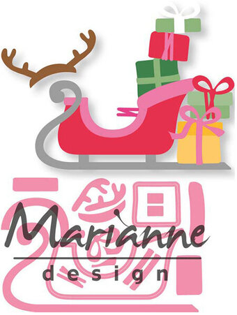 Eline's Sleigh - Marianne Design Christmas Craft Die