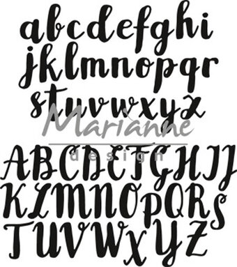 Marianne Design Craftables Die - Brush Alphabet