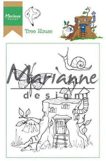 Hetty's Tree House - Marianne Design Clear Stamp