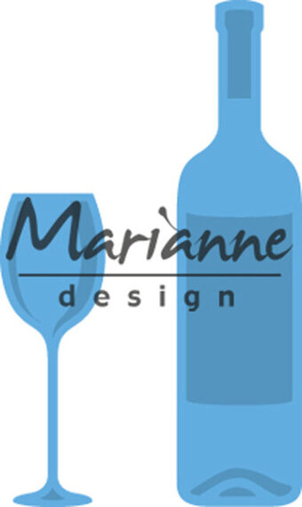 Marianne Design Creatables Die - Wine Bottle and Glass