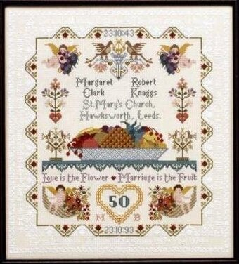 Anniversary/Wedding Sampler - Cross Stitch Pattern