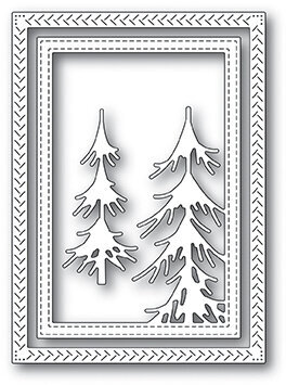 Memory Box Pine Forest Frame - Craft Die