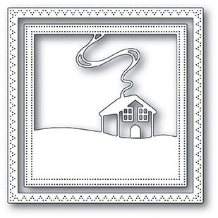 Memory Box Family Cabin Frame - Christmas Craft Die