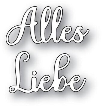 Alles Liebe (All the Best) - Memory Box Craft Die