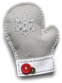 Memory Box Plush Frosty Mitten Die